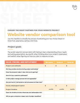 tbh-website-vendor-comparison-worksheet